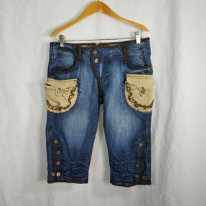 Apple Bottoms Womens Mid Rise Cropped Capris